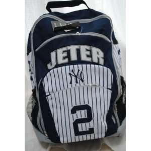 NEW YORK YANKEES DEREK JETER #2 PLAYER BACK PACK BOOK BAG