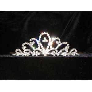 Bridal Bridesmaid Prom Tiara Crystal Rhinestone Wedding Veil 00010