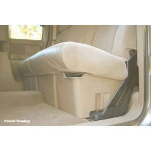 Full Size 1/2 ton Crew Cab; Down Underseat Holding Apparatus; graphite