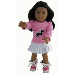 , and Pink Zebra Hi Tops Fits 18 American Girl Doll Toys & Games