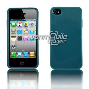 VMG Apple iPhone 4S TPU Slim Fit Skin Case Cover   Dark Teal Turquoise