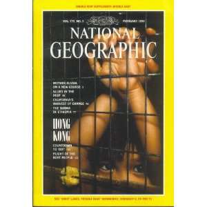 National Geographic Feb 1991 CALIFORNIA/HONG KONG: Mike Edwards: Books
