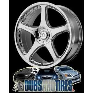 19 Inch 19x9.5 LORENZO wheels WL28 Chrome wheels rims