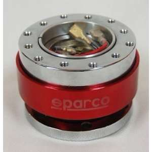 Red) SPARCO Quick Release Snap Off Steering Wheel Hub Boss Kit BRAND