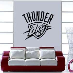 OKLAHOMA CITY THUNDER NBA Vinyl Decal Sticker / 22 x 22