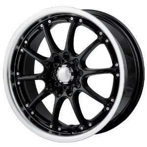 Black w/ Machined Lip) Wheels/Rims 5x100/114.3 (450 7703B) Automotive