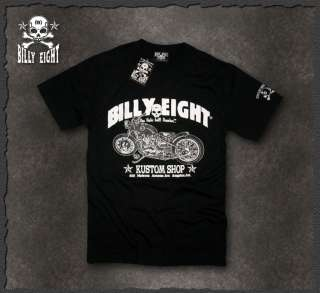 Billy Eight★ Route 666 Motorcycle Biker T Shirt Rockabilly Tattoo