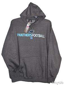 Carolina PANTHERS NFL GREY HOODIE w/PANTHERS Lettering & Logo