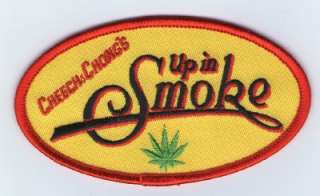 Iron On Embroidered Patch Cheech and Chong Up In Smoke Logo