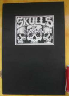 Skulls by Filip Leu popular design Tattoo Flash Book Sketch manuscript