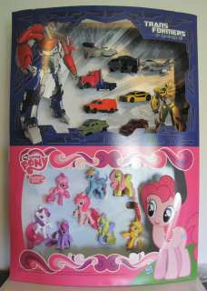 My Little Pony MLPFIM G4 & Transformers Prime 2012 Mcdonalds Display
