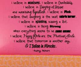 Audrey Hepburn Vinyl Wall Art Sticker Decal Quote Decor Inspirational