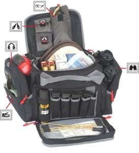 GPS 2014LRB Large Range Bag w/ Visual ID Storage System Black