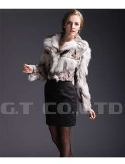 0210 women Fox fur coat coats jacket outwear garment dress for winter
