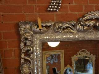 Ornate Framed Silver Glass Mosaic Wall Mirror
