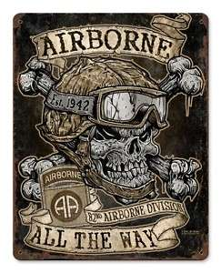 82nd Airborne Division US Army military metal sign