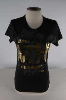 Abbey Dawn Black What the Hell Gold WTH Tee Shirt 1710