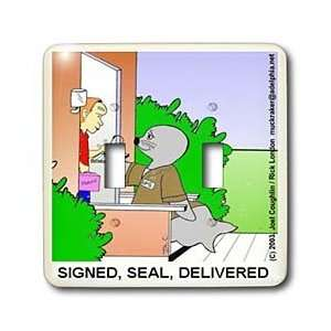Londons Times Funny Animals Cartoons   Seal Delivery Guy
