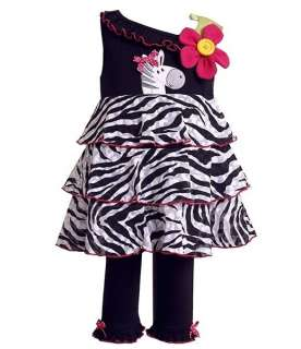 New Baby Girls Ruffle Zebra Clothes 24 months 24m NWT