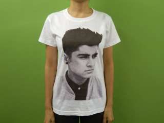 ONE DIRECTION Zayn Malik Womens Crewneck Crew Neck T Shirt 1D Boy Band