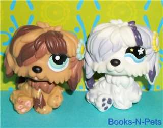 LOT~#466 WHITE/PURPLE & #1077 BROWN~Littlest Pet Shop K122