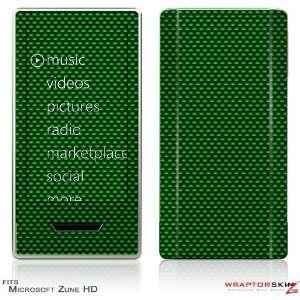 Zune HD Skin   Carbon Fiber Green by WraptorSkinz
