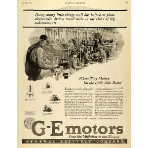 1920 Ad Production Line Factory Workers G E Motors General Electric Co