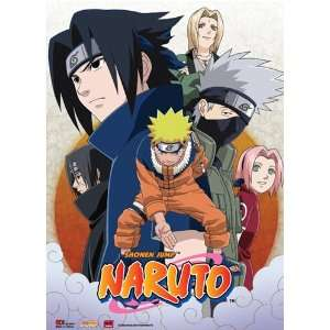 Naruto Leaf Village Group Anime Wall Scroll
