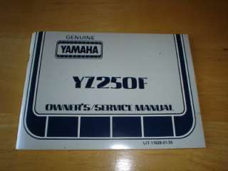 1979 Yamaha YZ250F Motorcycle Dirt Bike Owners Service Manual Vintage