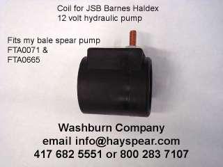 JSB Barnes Haldex 12 volt Hydraulic pump coil12 v
