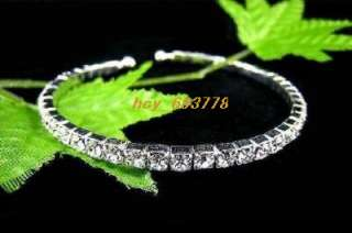 Wholesale 12pcs1Row Bridal Crystal Rhinestone Bracelets