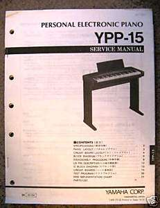 Yamaha Original Service Manual, YPP 15 Portable Piano