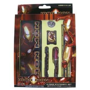 Marvel Hero Iron Man Study Kit   Iron Man 6pcs Stationery