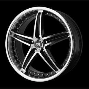 17 Motegi Racing MR107 Black/ Machined Wheels 17x7.5