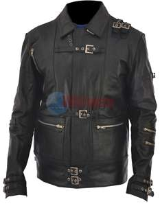 Michael Jackson The Bad Black Cow Hide Leather Jacket