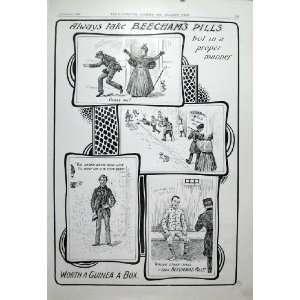 Snatcher Takes Purse With Beecham Pills 1904 Advert