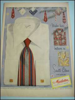 Vintage 1948 Manhattan Mens Fashion Christmas Gifts Shirt Ornaments