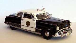 Franklin Mint 124 1951 Hudson Hornet Police Cruiser diecast car