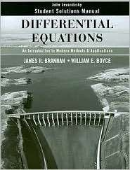 Differential Equations, Student Solutions Manual An Introduction to