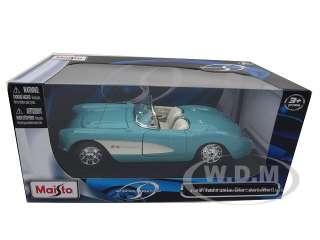 Brand new 124 scale diecast car model of 1957 Chevrolet Corvette die