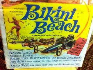 1964 BIKINI BEACH VINTAGE MOVIE POSTER FRANKIE AVALON ANNETTE