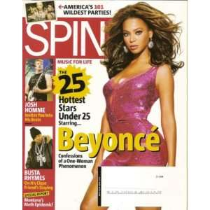 SPIN Magazine July 2006 BEYONCE Cover (Single Issue