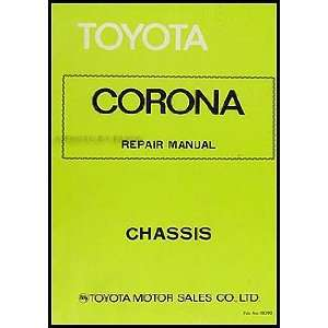 Corona Chassis Repair Shop Manual Original No. 98290 Toyota Books