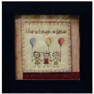 Newview K597 13 Stitched Art Frame, Live Laugh Love