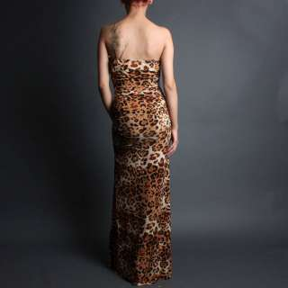 Formal Fitted Strapless Party Evening Gown Cocktail Long Maxi Dress sz