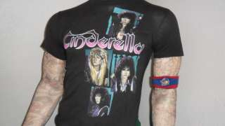 vtg CINDERELLA CONCERT SHIRT Hair Metal 80s band tour