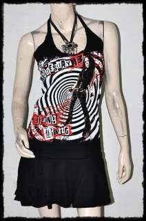 Wednesday 13 Heavy Metal Rock DIY Halter Dress Top