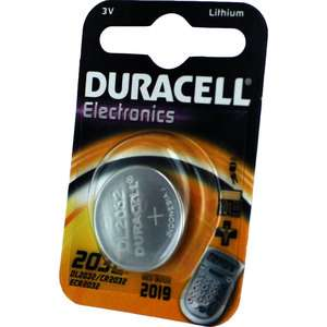 Duracell DL2032 3V Lithium Coin Cell Battery 1 Pk CR2032 ECR2032