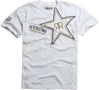 Fox Racing Rockstar Golden T Shirt (black or white) rock star energy
