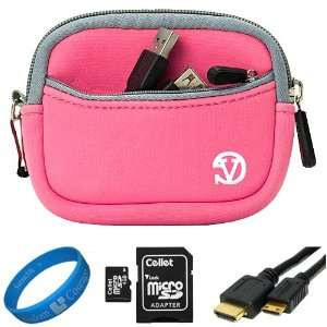 Baby Pink Neoprene Sleeve Protective Camera Pouch Carrying